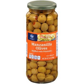 Kroger® Manzanilla Olives Stuffed with Pimiento 14 oz. Jar