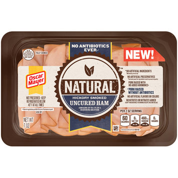 Oscar Mayer Natural Hickory Smoked Uncured Ham 7 oz. Tray