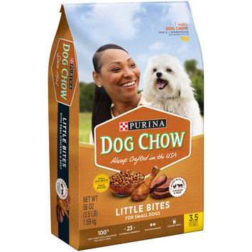 Purina Dog Chow Little Bites for Small Dogs Made with Real Chicken and Beef Dog Food 3.5 lb. Bag