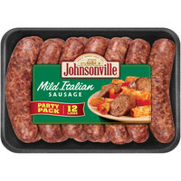 Johnsonville Mild Italian Sausage Links 2.85lb Party Pack tray