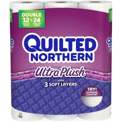 Quilted Northern Ultra Plush® Double Roll Bath Tissue 12 ct Pack