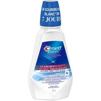 Crest® 3D White™ Glamorous White Alcohol Free Fresh Mint Multi-Care Whitening Mouthwash 237mL Bottle