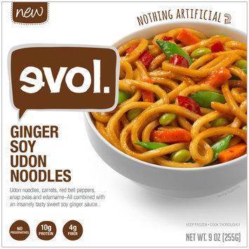 Evol Ginger Soy Udon Noodles Frozen Dinner 9 oz. Bowl