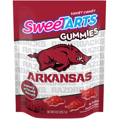 SWEETARTS Gummies University of Arkansas Recloseable 8 oz Bag, 8 ct