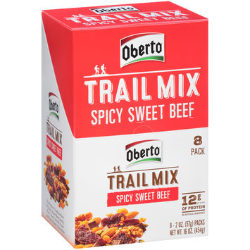 Oberto® Trail Mix Spicy Sweet Beef 8-2 oz. Packs