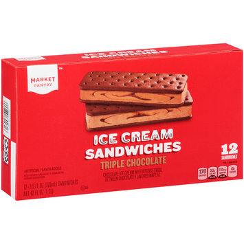 Market Pantry™ Triple Chocolate Ice Cream Sandwiches 12-3.5 fl. oz. Packs