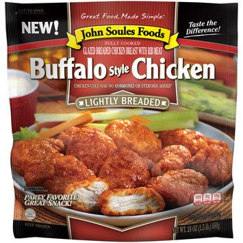 John Soules Foods® Lightly Breaded Buffalo Style Chicken 24 oz. Bag