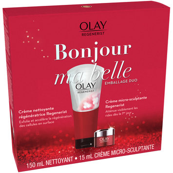 Olay Regenerist Face Cleanser And Moisturizer Regimen Kit
