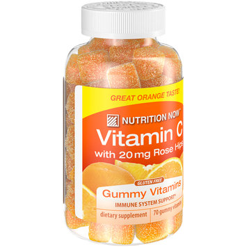Nutrition Now™ Vitamin C with 20mg Rose Hips Dietary Supplement Gummy Vitamins 70 ct Bottle