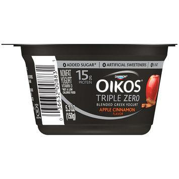 Dannon® Oikos® Triple Zero Blended Greek Nonfat Yogurt Apple Cinnamon 5.3oz Single Serve