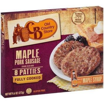 CB Old Country Store® Maple Pork Sausage Patties 9.6 oz. Box