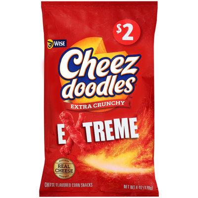 Wise® Cheez Doodles® Extreme Extra Crunchy Corn Snacks 6 oz. Bag