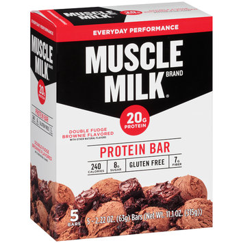 Muscle Milk® Double Fudge Brownie Flavored Protein Bars 5-2.22 oz. Bars