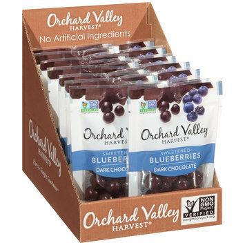 Orchard Valley Harvest® Dark Chocolate Sweetened Blueberries 1.9 oz.