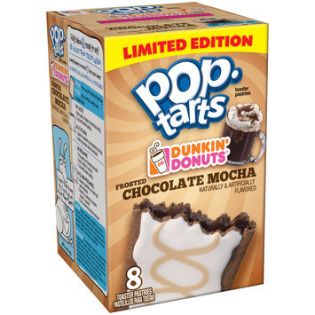 Kellogg's Pop-Tarts Dunkin' Donuts Frosted Chocolate Mocha Toaster Pastries