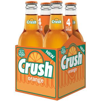 Crush Orange Soda Made with Sugar, 12 Fl Oz Glass Bottles, 4 Pack
