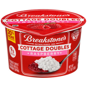 Breakstone's Cottage Doubles Cottage Cheese & Raspberry Topping 4.7 oz. Tub