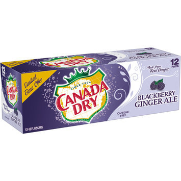 Canada Dry Blackberry Ginger Ale, 12 Fl Oz Cans, 12 Pack