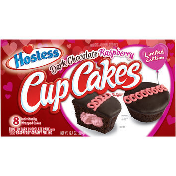 Hostess® Dark Chocolate Raspberry Cupcakes