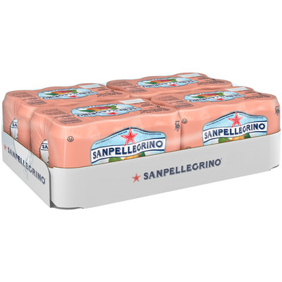 SANPELLEGRINO Sparkling Fruit Beverages, Ficodindia e Arancia/Prickly Pear & Orange 11.15-ounce cans (Total of 24)