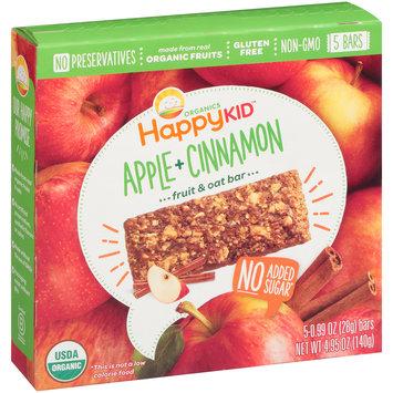 Happy Kid™ Apple + Cinnamon Fruit & Oat Bars 5-0.99 oz. Bars