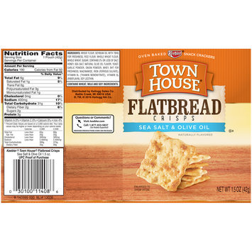 Keebler® Town House® Sea Salt & Olive Oil Flatbread Crisps 1.5 oz. Wrapper