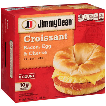 Jimmy Dean® Bacon Egg & Cheese Croissant Sandwiches 8 ct Box