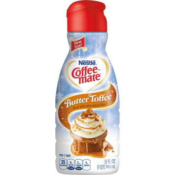 Nestle Coffeemate Butter Toffee Liquid Coffee Creamer 32 fl oz Bottle