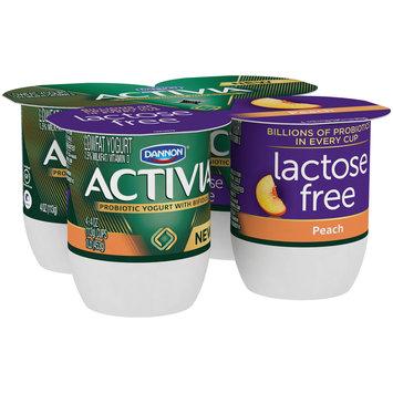 Dannon® Activia® Probiotic Lactose-Free Blended  Yogurt Peach 4oz 4pk