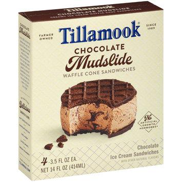 Tillamook® Chocolate Mudslide Waffle Cone Ice Cream Sandwiches 4-3.5 fl. oz. Box