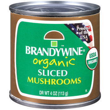 Brandywine® Organic Sliced Mushrooms 4 oz. Can