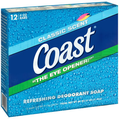 Coast® Classic Scent Refreshing Deodorant Soap 12-4 oz. Bars