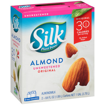 Silk® Almond Unsweetened Original Almondmilk 2-64 fl. oz. Cartons