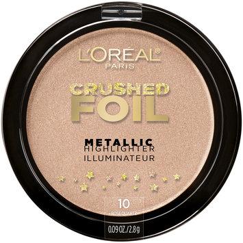 L'Oreal® Paris Crushed Foil Metallic Highlighter 10 Rose Quartz 0.09 oz. Plastic Compact