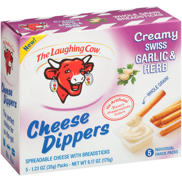 The Laughing Cow® Creamy Swiss Garlic & Herb Cheese Dippers 5-1.23 oz. Packs