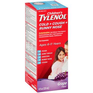 Children's Tylenol® Cold + Cough + Runny Nose Grape Oral Suspension 4 fl. oz. Box