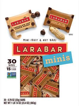 Larabar™ Minis Chocolate Chip Cookie Dough/Peanut Butter Chocolate Chip Mini Fruit & Nut Bars 30 ct Pouch