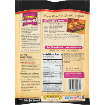 John Soules Foods® Korean Style BBQ Flavored Thinly Sliced Beef Strips 6 oz. Bag