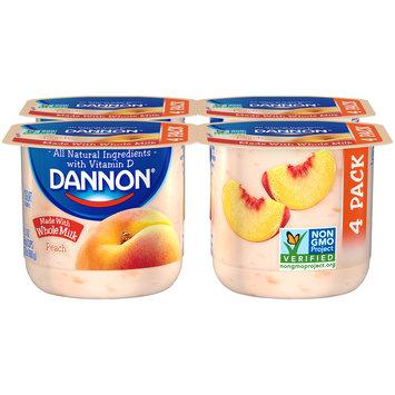 Brand Dannon® Blended Whole Milk Yogurt Peach 5.3oz 4pk