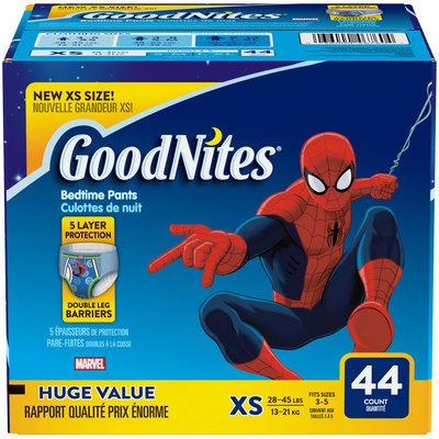 GoodNites Bedtime Pants for Boys Giga Pack (Choose Your Size) 44 ct Pack