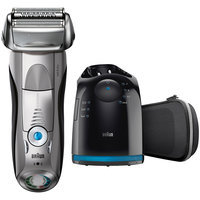 7Series Braun Series 7 7898cc Wet&Dry Electric Shaver with Clean&Charge System, premium silver