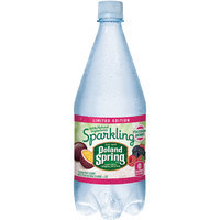 POLAND SPRING Brand Sparkling Natural Spring Water, Passion Berry 33.8-ounce plastic bottle