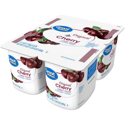 Great Value™ Original Cherry Lowfat Yogurt 4-6 oz. Cups