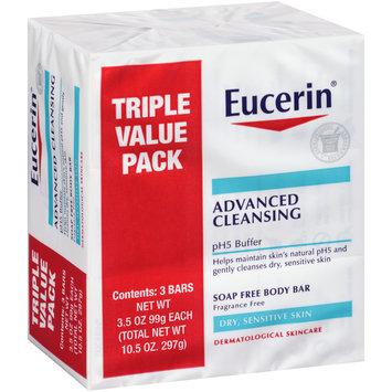 Eucerin® Advanced Cleansing Soap Free Body Bar 3-3.5 oz. Bars