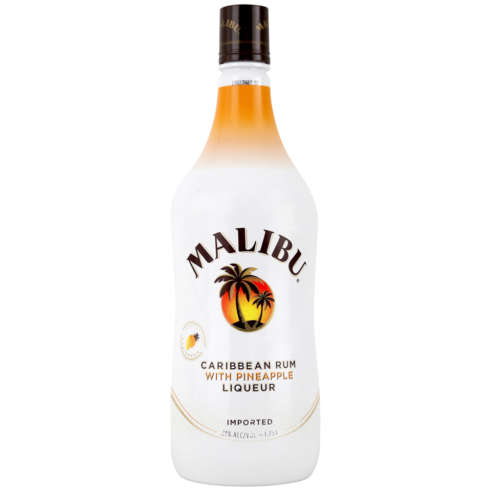Malibu Rum Caribbean Pineapple 1.75L Bottle