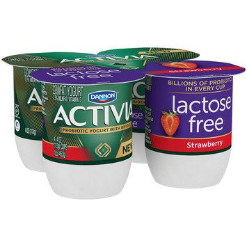 Dannon® Activia® Probiotic Lactose-Free Blended  Yogurt Strawberry 4oz 4pk
