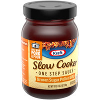 Kraft Slow Cooker One Step Sauce Brown Sugar Pulled BBQ