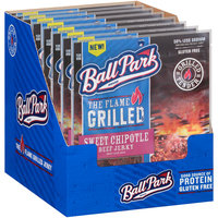 Ball Park® The Flame Grilled Sweet Chipotle Beef Jerky 2.85 oz. Pouch
