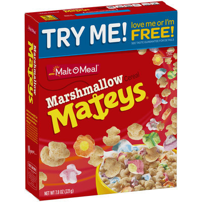Malt-O-Meal® Marshmallow Mateys® Cereal 7.8 oz. Box