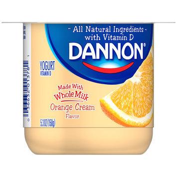 Brand Dannon® Blended Whole Milk Yogurt Orange Cream 5.3oz Single Serve